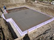 Fully concreted floor slab