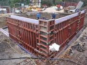 Mounting of the external shuttering