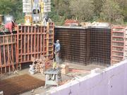 Mounting of the internal formwork